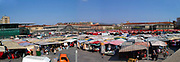 Turin, Piedmont, Italy. Porta Palazzo market the largest open air market in Europe.