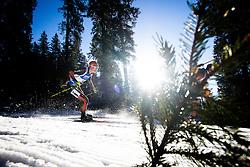 Benedikt Doll (GER) during Men 15 km Mass Start at day 4 of IBU Biathlon World Cup 2015/16 Pokljuka, on December 20, 2015 in Rudno polje, Pokljuka, Slovenia. Photo by Ziga Zupan / Sportida