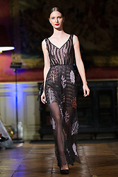 Model walks on the runway during Lysander G.L fashion show during Select Fashion Awards at Musée Jacquemart-Andre during Spring/Summer 2018 ready to wear collection in Paris, France, October 01 2017. Photo by Nasser Berzane/ABACAPRESS.COM