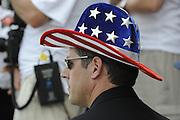 Ottensheim, AUSTRIA.  USRowing CEO, Glenn MERRY,  at the 2008 FISA Senior and Junior Rowing Championships,  Linz/Ottensheim. Sunday,  27/07/2008.  [Mandatory Credit: Peter SPURRIER, Intersport Images] Rowing Course: Linz/ Ottensheim, Austria