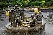 Ecuador, May 4 2010: A sculpture representing women from different indigenous groups within Ecuador in Puyo...Copyright 2010 Peter Horrell