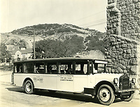 1925 Tourist bus at Hollywoodland