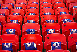 Chelsea scarves in the stands ahead of the match