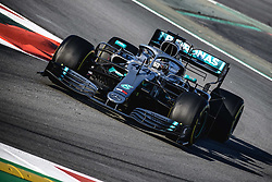 February 28, 2019 - Barcelona, Catalonia, Spain - LEWIS HAMILTON (GBR) from team Mercedes drives in his W10 during day seven of the Formula One winter testing at Circuit de Catalunya (Credit Image: © Matthias OesterleZUMA Wire)