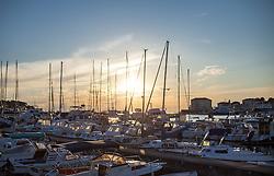 THEMENBILD - URLAUB IN KROATIEN, Abendstimmung im Hafen, aufgenommen am 01.07.2014 in Porec, Kroatien // Evening mood in the Habour at Porec, Croatia on 2014/07/01. EXPA Pictures © 2014, PhotoCredit: EXPA/ JFK