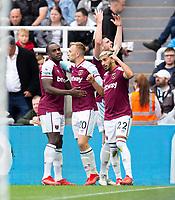 Football - 2021 / 2022 Premier League - Newcastle United vs West Ham United - St James Park - Sunday 15th August 2021<br /> <br /> Said Benrahma of West Ham celebrates scoring to make it 2-2<br /> <br /> Credit: COLORSPORT/Bruce White