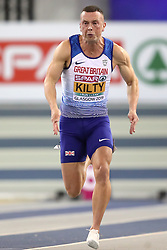 Great Britain's Richard Kilty during the Men's 60m semi final during day two of the European Indoor Athletics Championships at the Emirates Arena, Glasgow.