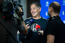 Mark Cuban during Dallas Mavericks Press Conference to formalise the deal with Luka Doncic, 10 August, 2021, Intercontinental Hotel, Ljubljana, Slovenia. Photo by Grega Valancic