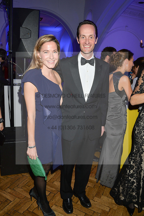 The HON.EDWARD TOLLEMACHE and his wife SOPHIE TOLLEMACHE at the Sugarplum Dinner in aid Sugarplum Children a charity supporting children with type 1 diabetes and raising funds for JDRF, the world's leading type 1 diabetes research charity held at One Marylebone, London on 18th November 2015.
