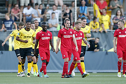 Wout Brama of FC Twente (C) during the Pre-season Friendly match between VVV-Venlo and FC Twente at Seacon stadium De Koel on July 27, 2018 in Venlo, The Netherlands