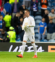 Football - 2021 / 2022  UEFA Europa League - Group A, Round One - Glasgow Rangers vs Lyon - Ibrox stadium - Thursday 16th September 2021<br /> <br /> Allan McGregor of Rangers looks dejected at full time<br /> <br /> Credit: COLORSPORT/Bruce White