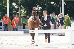 Hans Peter Minderhoud, (NED), Glock's Johnson N.O.P. - Horse Inspection Dressage - Alltech FEI World Equestrian Games™ 2014 - Normandy, France.<br /> © Hippo Foto Team - Leanjo de Koster<br /> 25/06/14