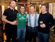 Erc Dunne with Trevor Brennan, Frankie Sheahan and Paul Wallace  at the Guinness Area22 event in the Carlton Hotel Galway..