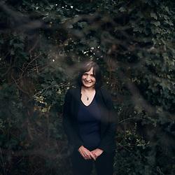 Muriel Salmona, psychanalyst, in her garden. Bourg-la-Reine, France. January 28, 2021.<br /> Muriel Salmona, psychanalyste, dans son jardin. Bourg-la-Reine, France. 28 janvier 2021.