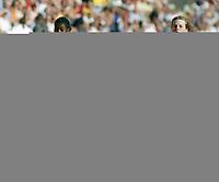 Friidrett, 29. juli 2005, Golden League, Bislett Games, 100 meter jenter/girls, Folake Akinyemi og Oda Utsi Onstad (t.v.)