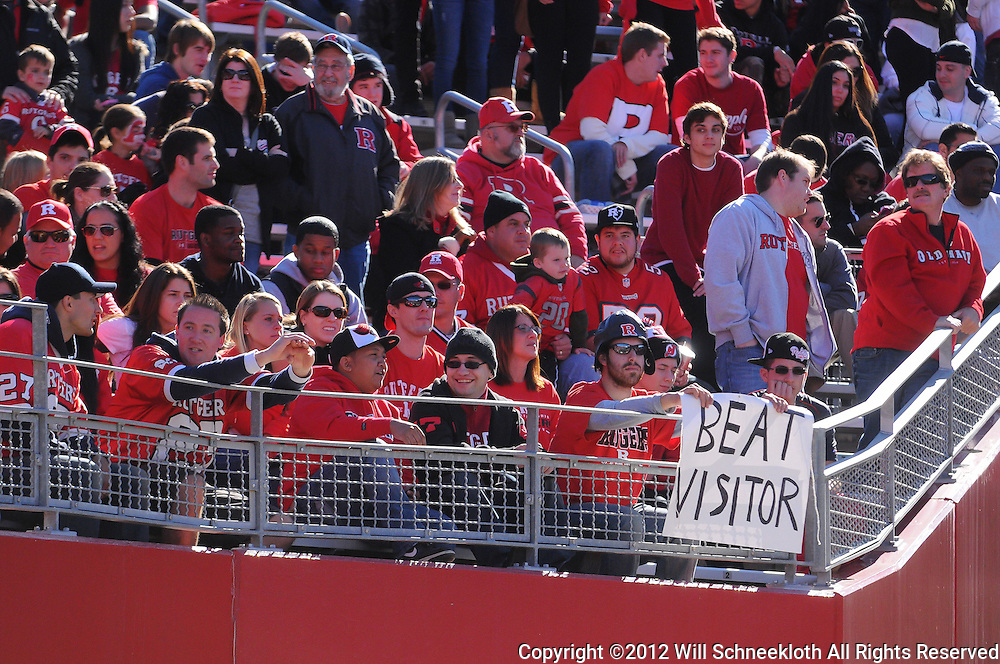 Oct 13, 2012: Fans watch NCAA Big East college football action between the Rutgers Scarlet Knights and Syracuse Orange at High Point Solutions Stadium in Piscataway, N.J.