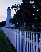 Ocracoke Lighthouse, built in 1823, village of Ocracoke, North Carolina.