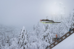 10.12.2020, Planica Nordic Centre, Ratece, SLO, FIS Skiflug Weltmeisterschaft, Planica, Einzelbewerb, Qualifikation, im Bild Severin Freund (GER) // Severin Freund of Germany during the qualification for the men individual competition of FIS Ski Flying World Championship at the Planica Nordic Centre in Ratece, Slovenia on 2020/12/10. EXPA Pictures © 2020, PhotoCredit: EXPA/ JFK