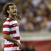 United States Midfielder Kyle Beckerman (14) during an international friendly soccer match between Scotland and the United States at EverBank Field on Saturday, May 26, 2012 in Jacksonville, Florida.  The United States won the match 5-1 in front of 44,000 fans. (AP Photo/Alex Menendez)