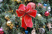 close up of Christmas tree ornament