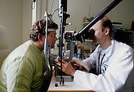 The Hague. Hospital. MCH. Medisch Centrum Haaglanden. Examination of the eyes..Photo: Gerrit de Heus