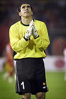 Fotball<br /> VM-kvalifisering<br /> Makedonia v Nederland<br /> Skopje<br /> 9. oktober 2004<br /> Foto: Digitalsport<br /> NORWAY ONLY<br />  jane nikoloski