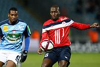 FOOTBALL - FRENCH CHAMPIONSHIP 2011/2012 - L1 - LILLE OSC v STADE BRESTOIS  - 26/11/2011 - CHRISTOPHE ELISE / DPPI - MOUSSA SOW (LOSC)