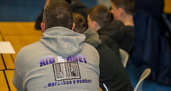 Pictured: <br /> <br /> Police Scotland visited Craigroyston High Schoolto today to host motorcycle safety seminar at the secondary school. The event looked at motorbike/vehicle misuse and the consequences involved after 50 students from the school were identified as potentially being involved in such activities. One of the school's 14 year old pupils, Bradley Williams died recently in a motorcycle accident recently and some of his relatives were their to plead with the students to be aware of the dangers of going on bikes with out the appropriate training and licences.<br /> Ger Harley | EEm 27 April 2017
