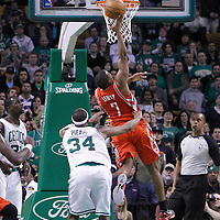 06 March 2012: Houston Rockets point guard Kyle Lowry (7) goes for the layup during the Boston Celtics 97-92 (OT) victory over the Houston Rockets at the TD Garden, Boston, Massachusetts, USA.
