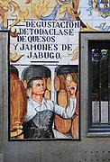 Historic ceramic tiles picture on restaurant wall, Calle Cava Baja, La Latina, Madrid, Spain