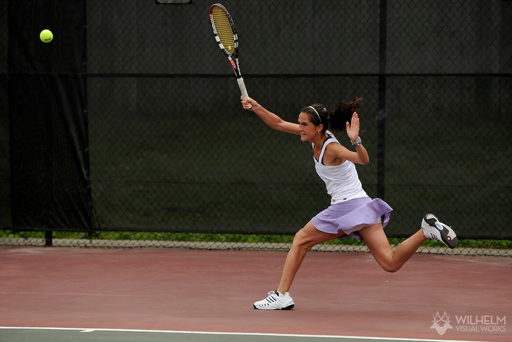 21 MAY 2009:  Annie Hancock of Williams College during the 2009 NCAA Women's Division III Tennis Championship held at Collins Hill Athletic Club hosted by Oglelthorpe University in Lawrenceville, GA. Williams defeated Amherst for the national team title. © Brett Wilhelm