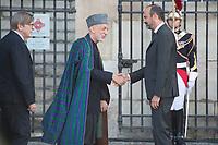 Hamid Karzai President Afghan _Edouard Philippe Obsèques de Jacques Chirac Lundi 30 Septembre 2019 église Saint Sulpice Paris