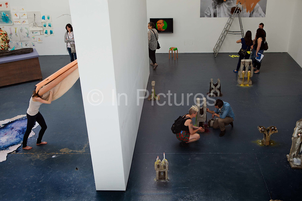 Fine Art show at the Royal College of Art, Battersea, London, UK.