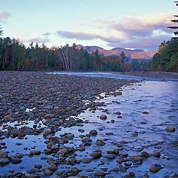 Saco River. Cobble beach.  White Mountain N.F. Cohos Trail.  Bartlett, NH