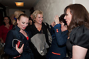 JUDITH OWEN; JENNIFER SAUNDERS; RUBY WAX; FRANCES BARBER, Press night for Ruby Wax- Losing it. Duchess theatre. London. 1 September 2011. <br /> <br />  , -DO NOT ARCHIVE-© Copyright Photograph by Dafydd Jones. 248 Clapham Rd. London SW9 0PZ. Tel 0207 820 0771. www.dafjones.com.