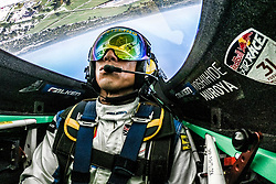 Yoshihide Muroya of Japan performs during practice day at the eighth round of the Red Bull Air Race World Championship at Indianapolis Motor Speedway, Indianapolis, Indiana, United States on October 13, 2017. // Predrag Vuckovic/Red Bull Content Pool // P-20171013-01566 // Usage for editorial use only // Please go to www.redbullcontentpool.com for further information. //