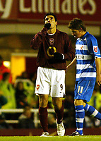 Photo: Chris Ratcliffe.<br />Arsenal v Reading. Carling Cup. <br />Jose Antonio Reyes celebrates the second goal