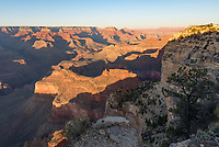It's hard to choose where to watch the sunset at the Grand Canyon. I started hiking the Rim Trail and ended up at Hopi Point.
