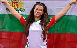 11-10-2015 BUL: Volleyball European Championship Nederland - Bulgarije, Sofia<br /> In een thriller tegen gastland Bulgarije verloor Nederland met 27-29, 25-20, 26-28, 25-23, 15-17 / Support, publiek Bulgarije, vlaggen, sfeer