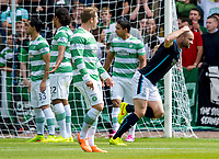 31/09/14 SCOTTISH PREMIERSHIP<br /> DUNDEE v CELTIC <br /> DENS PARK - DUNDEE<br /> James McPake (right) stuns the Celtic players with an early goal