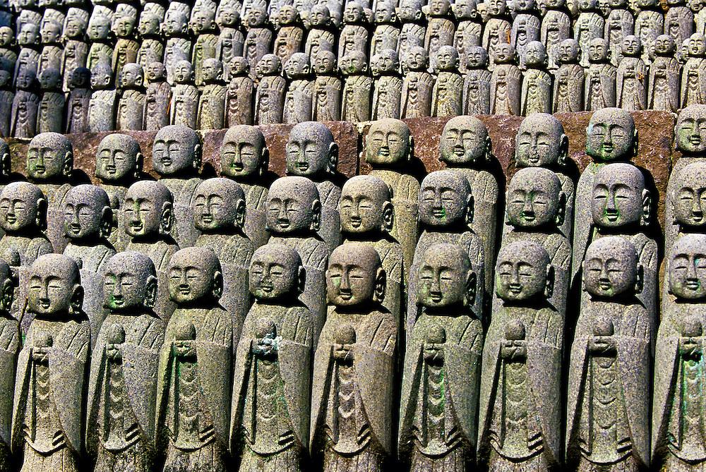Jizo figures, Hasedera (Hase Kannon Temple), Kamakura, Japan