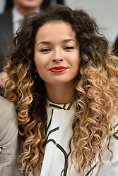 © Licensed to London News Pictures. 20/02/2016. ELLA EYRE attends the JASPER CONRAN Autumn/Winter 2016 show. Models, buyers, celebrities and the stylish descend upon London Fashion Week for the Autumn/Winters 2016 clothes collection shows. London, UK. Photo credit: Ray Tang/LNP