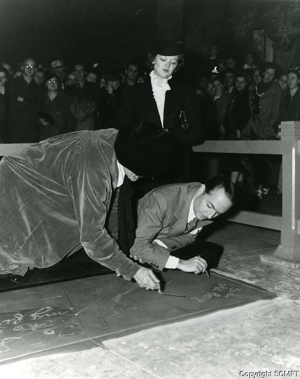 1936 William Powell's hand and footprint ceremony at the Chinese Theater