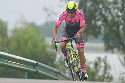 September 15, 2017 - Chenghu City, United States - Oscar Mauricio Pachon Melo from Monton Racing Club team during the fourth stage of the 2017 Tour of China 1, the 3.3 km Chenghu Jintang individual time trial. .On Friday, 15 September 2017, in Jintang County, Chenghu City,  Sichuan Province, China. (Credit Image: © Artur Widak/NurPhoto via ZUMA Press)