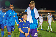 Mascot during the EFL Sky Bet League 1 match between AFC Wimbledon and Peterborough United at the Cherry Red Records Stadium, Kingston, England on 12 March 2019.