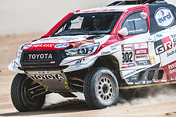 Giniel de Villiers (ZAF) and Dirk Von Zitzewitz (DEU) of Toyota Gazoo Racing SA race during stage 4 of Rally Dakar 2019 from Arequipa to Tacna, Peru on January 10, 2019. // Flavien Duhamel/Red Bull Content Pool // AP-1Y3A61KW52111 // Usage for editorial use only // Please go to www.redbullcontentpool.com for further information. //