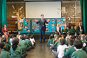 © Licensed to London News Pictures. 13/10/2014. London, UK The Deputy Prime Minister, Nick Clegg, visits Greenside Primary School in Shepherd's Bush on Monday 13th October 2014 to launch a new campaign called Primary Futures – a new strand of the Inspiring the Future campaign. Photo credit : Stephen Simpson/LNP