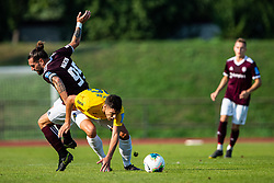 Luka Majcen of NK Triglav and Ante Vrljicak of NK Bravo during football match between NK Triglav and NK Bravo in 8th Round of Prva liga Telekom Slovenije 2019/20, on August 30, 2019 in Sport park ZAK, Ljubljana, Slovenia. Photo by Grega Valancic / Sportida