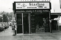 1977 Starline Sightseeing Tours at Hollywood Blvd. & Orchid Ave.