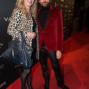 NLD/Amsterdam/20140311 - Modeshow Addy van den Krommenacker 2014, Mari van der Ven en vriendin